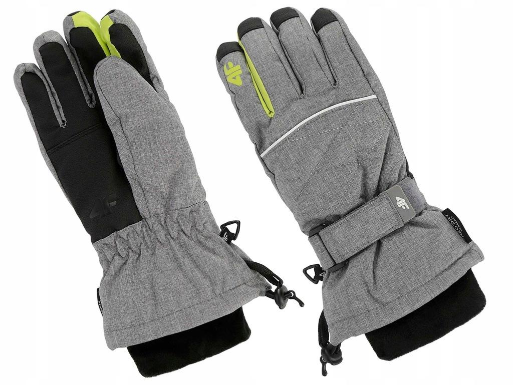 Rękawiczki chłopięce 4F 19 JREM002 szary m. M