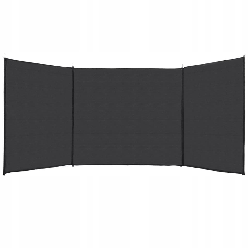 Osłona przeciwwiatrowa, antracytowa,150 x 450 cm,
