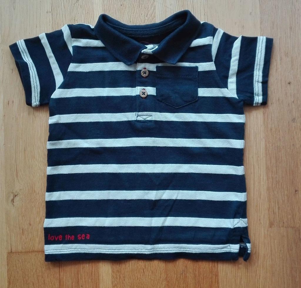 T-shirt polo chłopięcy C&A 80
