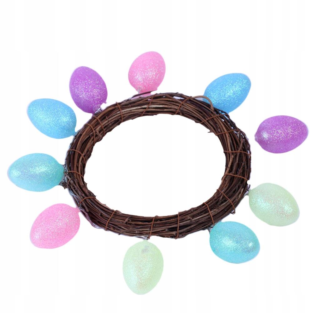 Wielkanocne jajko lekki wieniec sznurkowy kreatywn