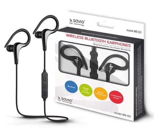Sportowe Bezprzewodowe Słuchawki BT + Mikrofon