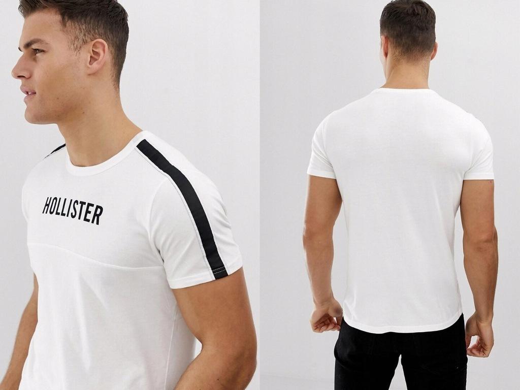 Hollister - Biała koszulka z logo M