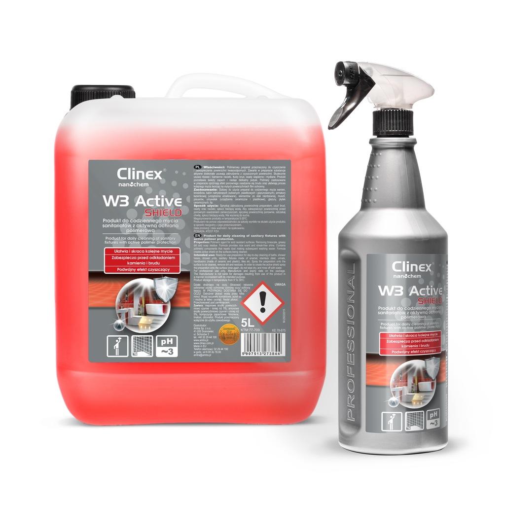 CLINEX Active Shield płyn do mycia łazienki kabiny
