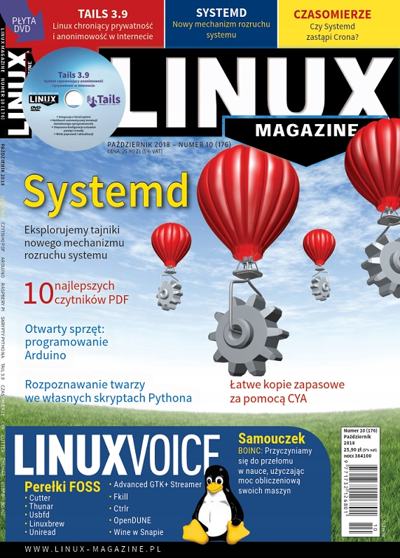 LinuxMagazine 10/2018 Systemd Tails 3.9 ALM176