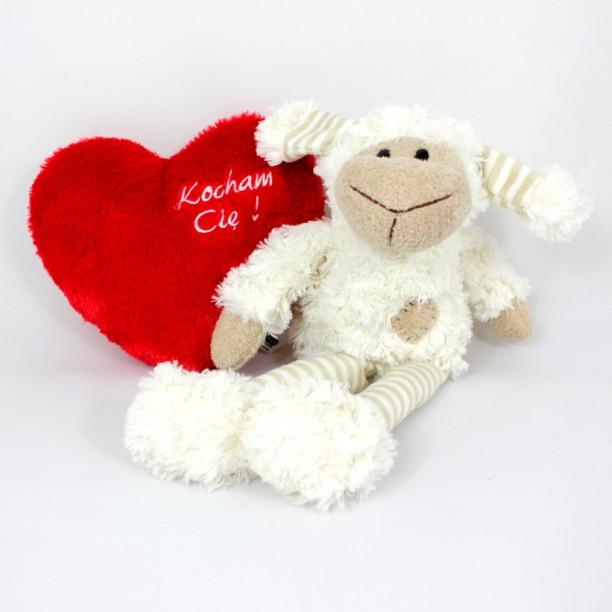 Owieczka Biała z czerwonym sercem