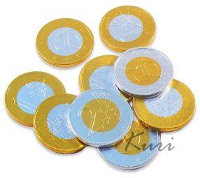Monety czekoladowe EURO Czekolada Włoska 10szt