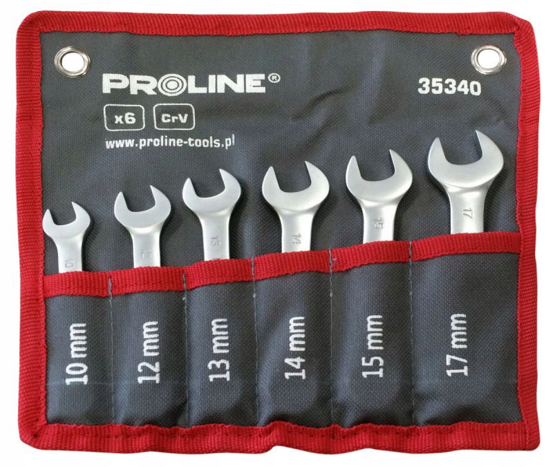 Klucze płasko oczkowe 6sztuk 10-17mm Proline 35340