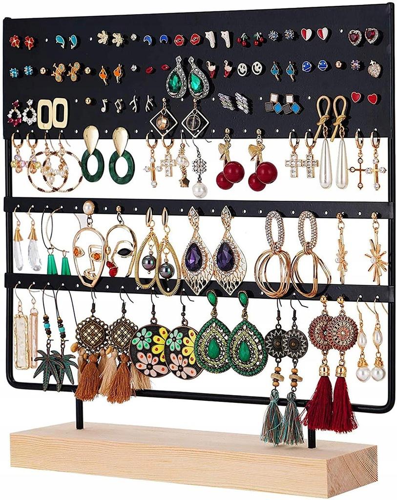 Stojak na biżuterię 144 otwory organizer