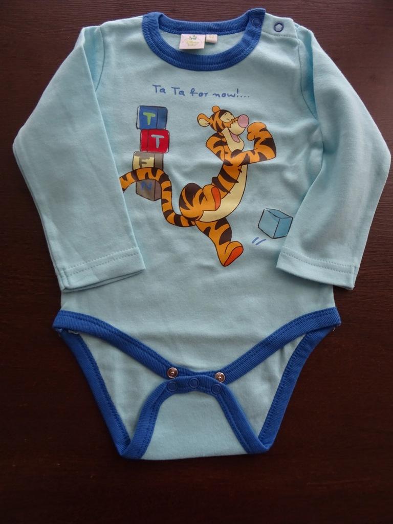 Disney body chłopięce 86 długi rękaw Tygrysek