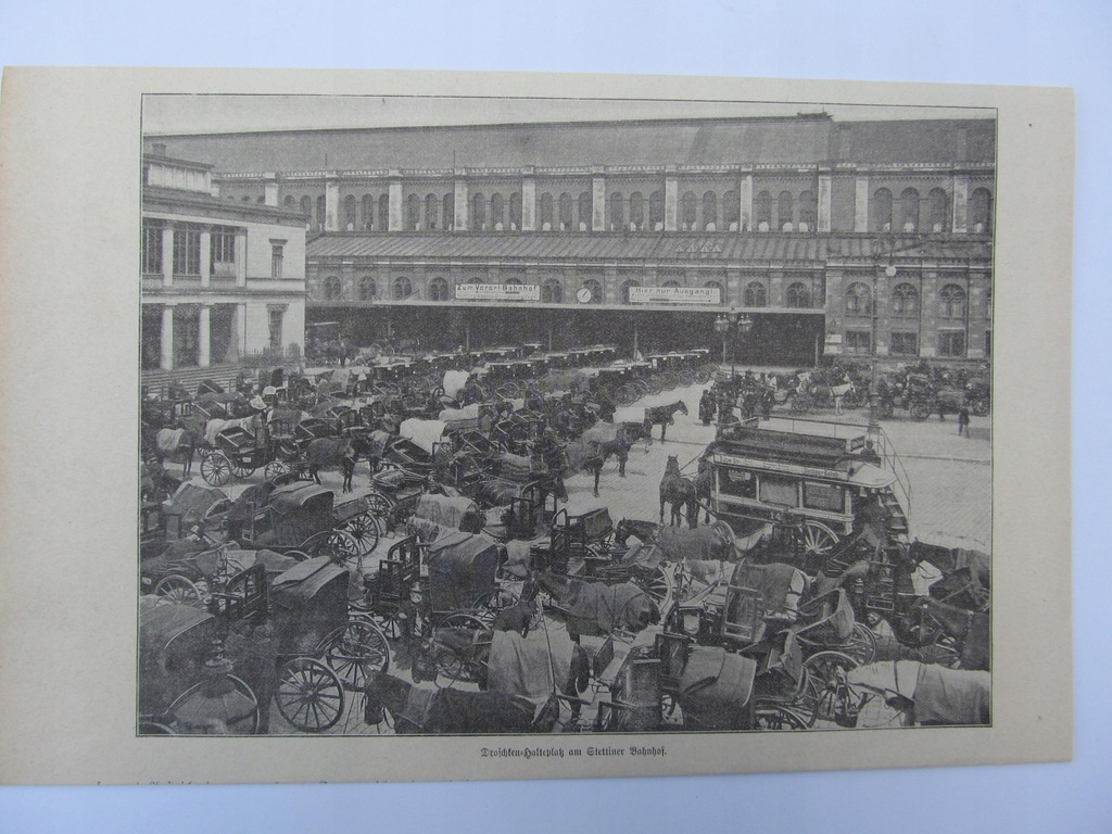 SZCZECIN DWORZEC KOL. DOROŻKI ilustracja 1901 r.