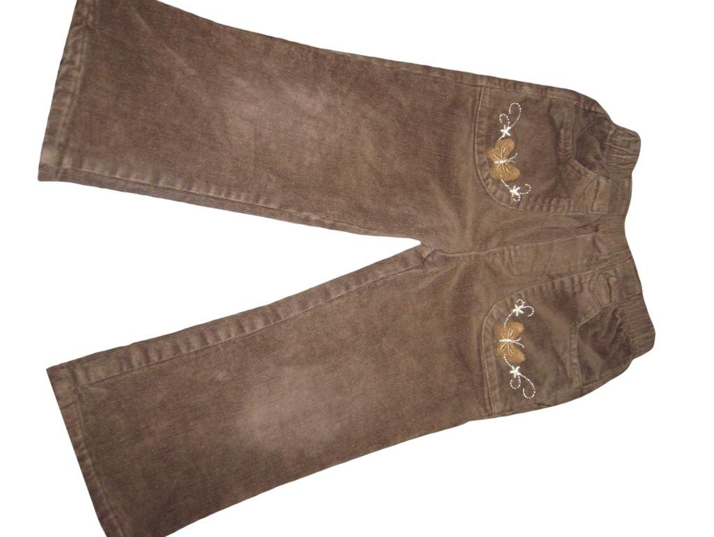 Lusa Spodnie sztruksowe ocieplane r.98 *3290