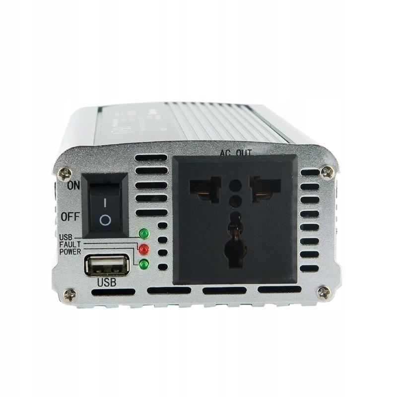 Przetwornica samochodowa 400/800W 24V(DC)-230V(AC)