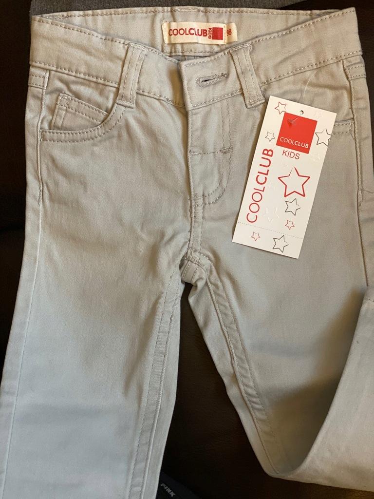 COOL CLUB SMYK nowe chinosy spodnie rurki 98