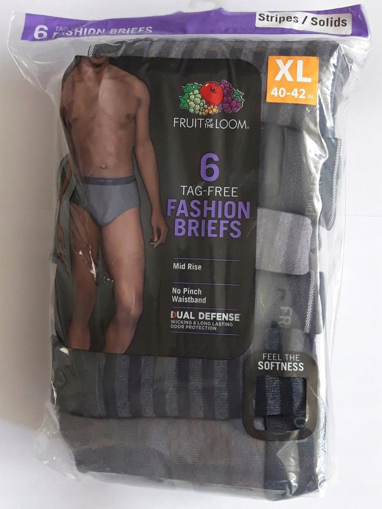 Fruit of The Loom 6 pack BRIEFS Dual Defense XL US