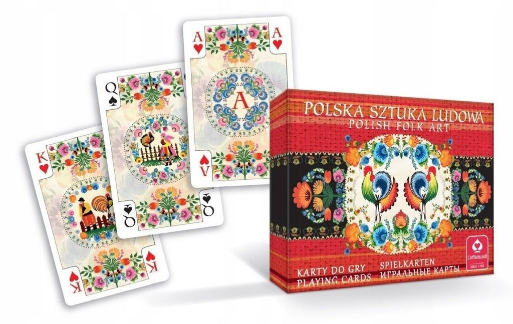 Karty Polska Sztuka Ludowa Podwójne