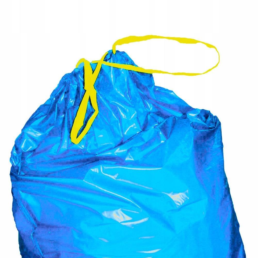 Worki na odpadki śmieci LDPE 35 mikr wiązane rolka