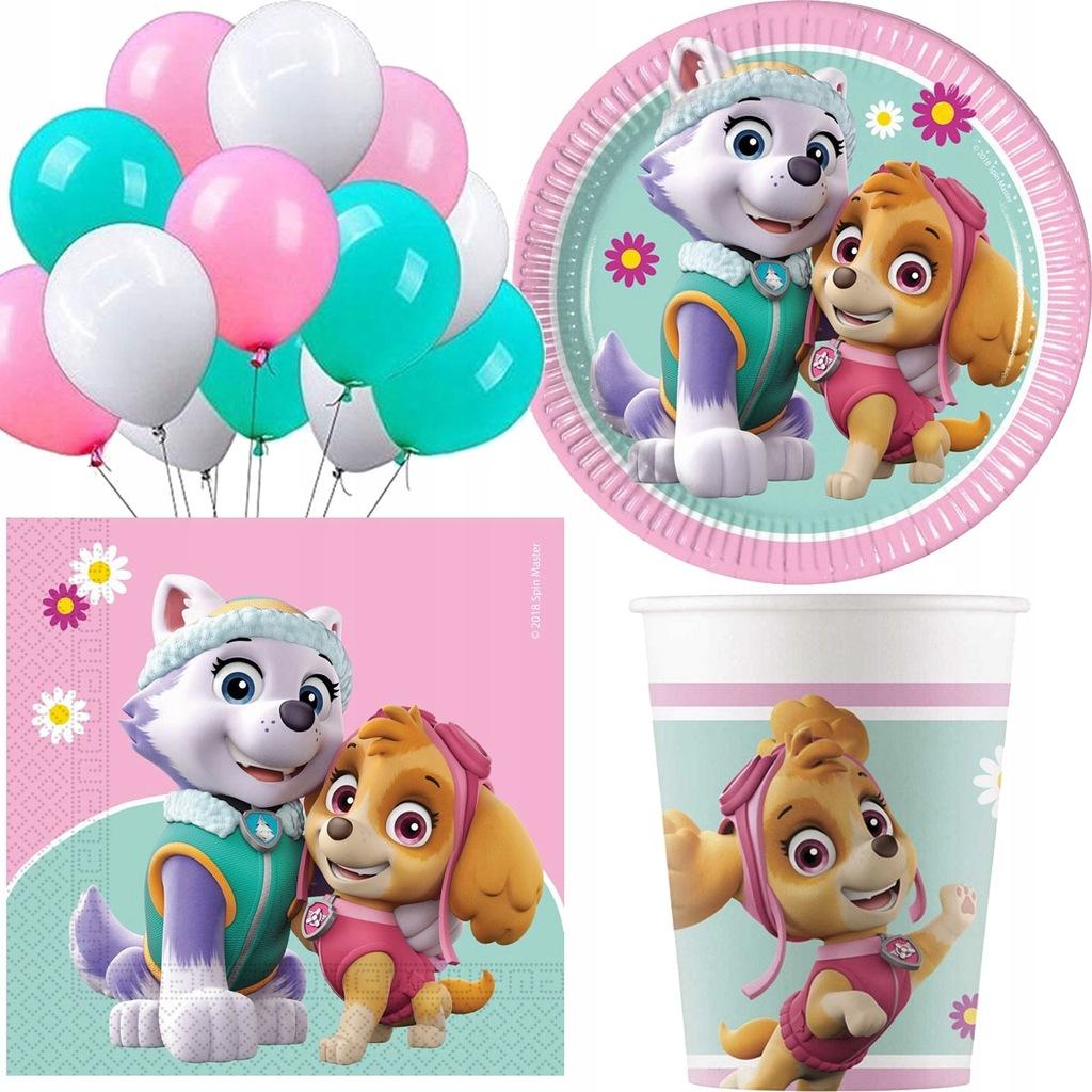 Zestaw PSI PATROL paw serwetki balony urodziny x46