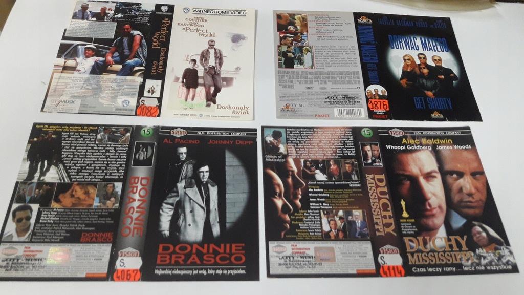 A-0945 pakiet 8 okładek kaset vhs