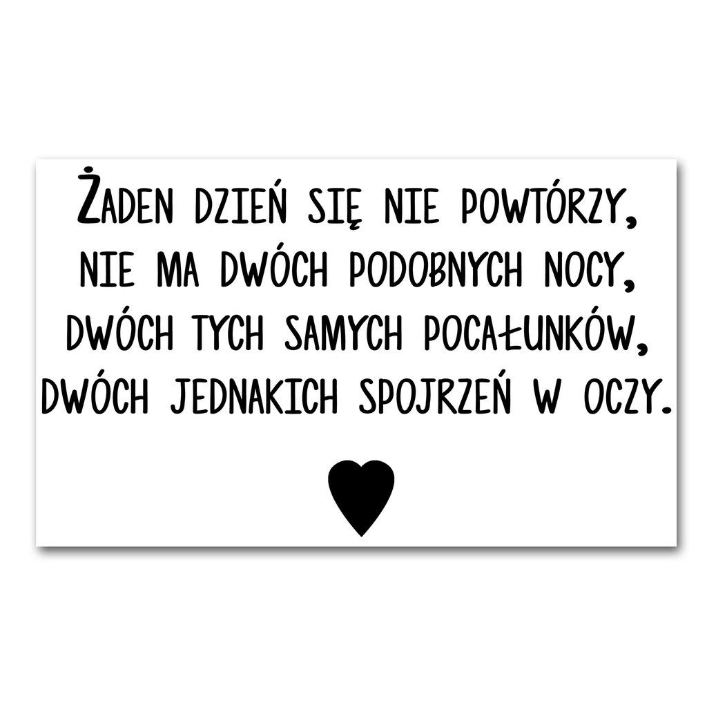 Plakat Cytat Szymborska Wiersz Do Sypialni 50x70