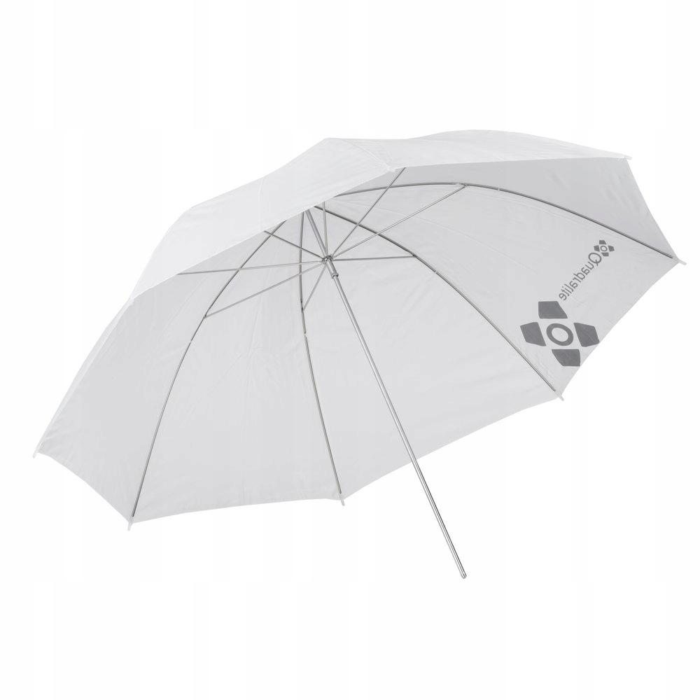 Parasolka Quadralite biała transparentna 91 cm