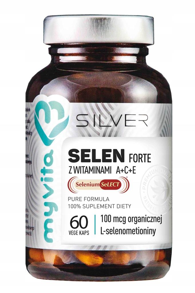 Selen Forte z witaminami A+C+E 60k MyVita Silver