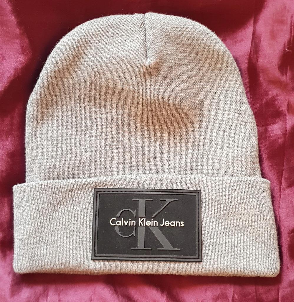CK czapka zimowa szara Calvin