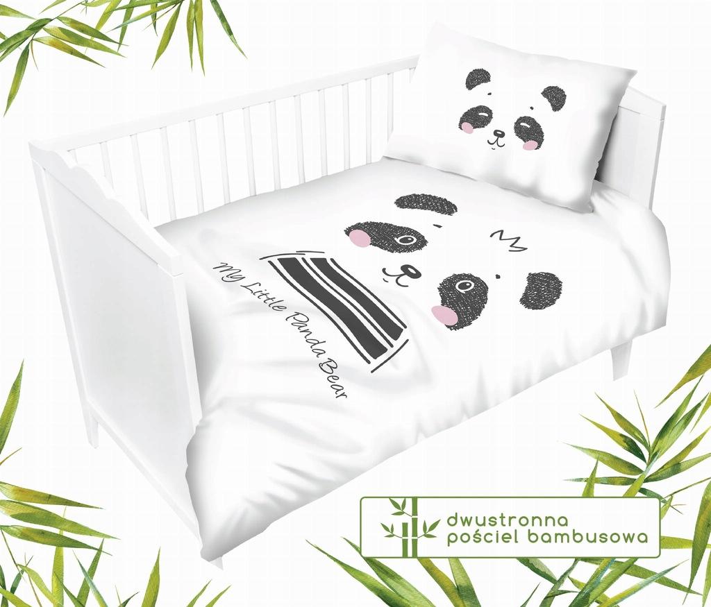 Dziecięca pościel bambusowa do łóżeczka dwustronna