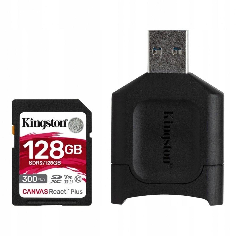 Kingston Karta pamięci SD 128GB React Plus 300/260