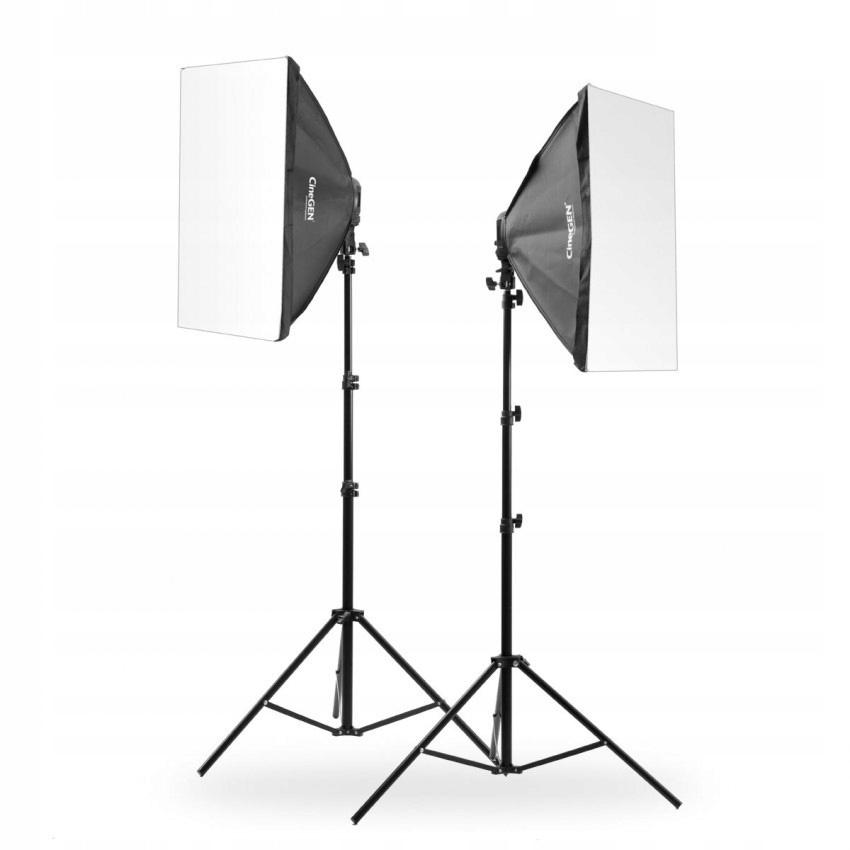 Zestaw LAMP 2x softbox 50x70cm 8x400W + 2x statyw