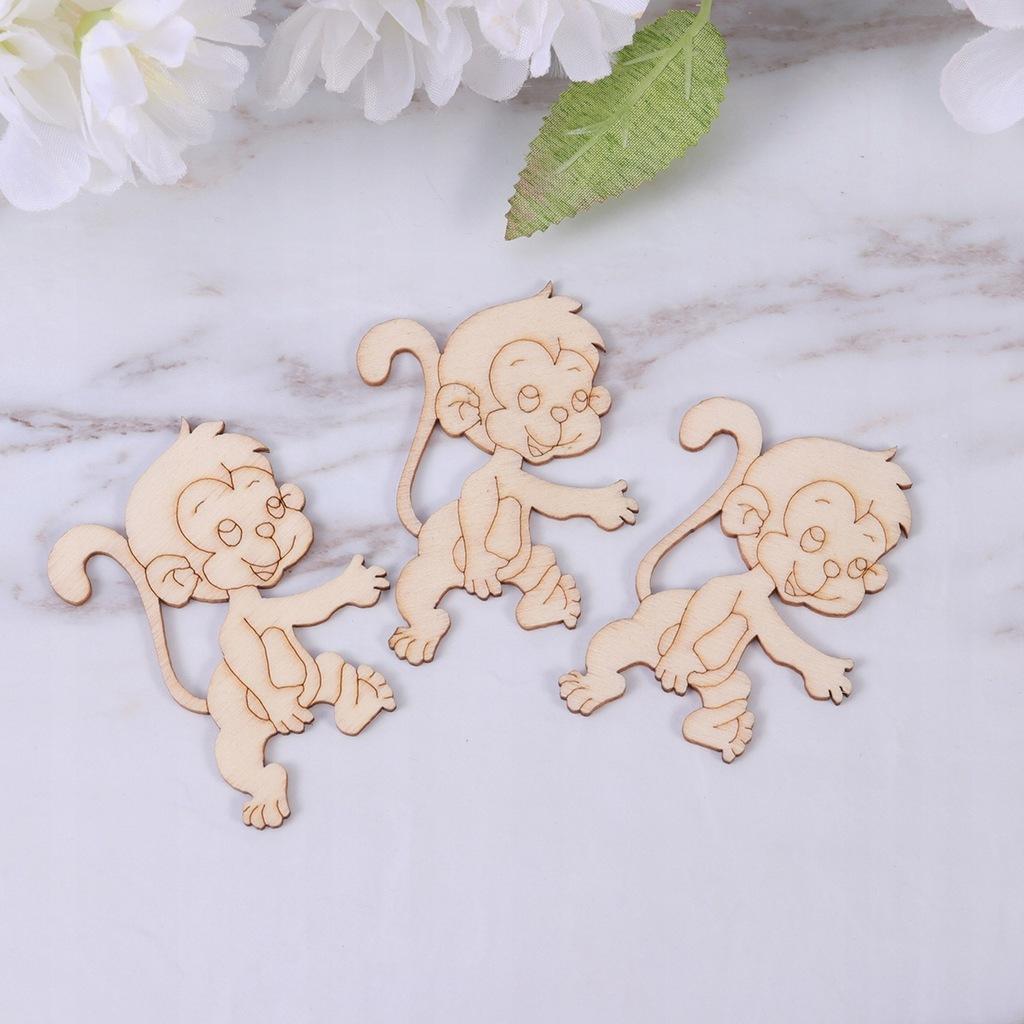 40 sztuk Cartoon Modele zwierząt Zrębki drewniane
