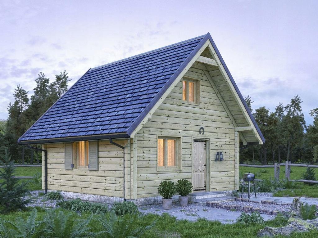 Dom z bali 13cm bez pozwoleń prosty montaż 34m.kw