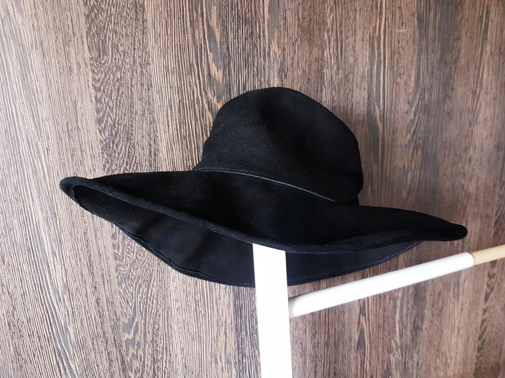 ZARA wielki skórzany kapelusz super!