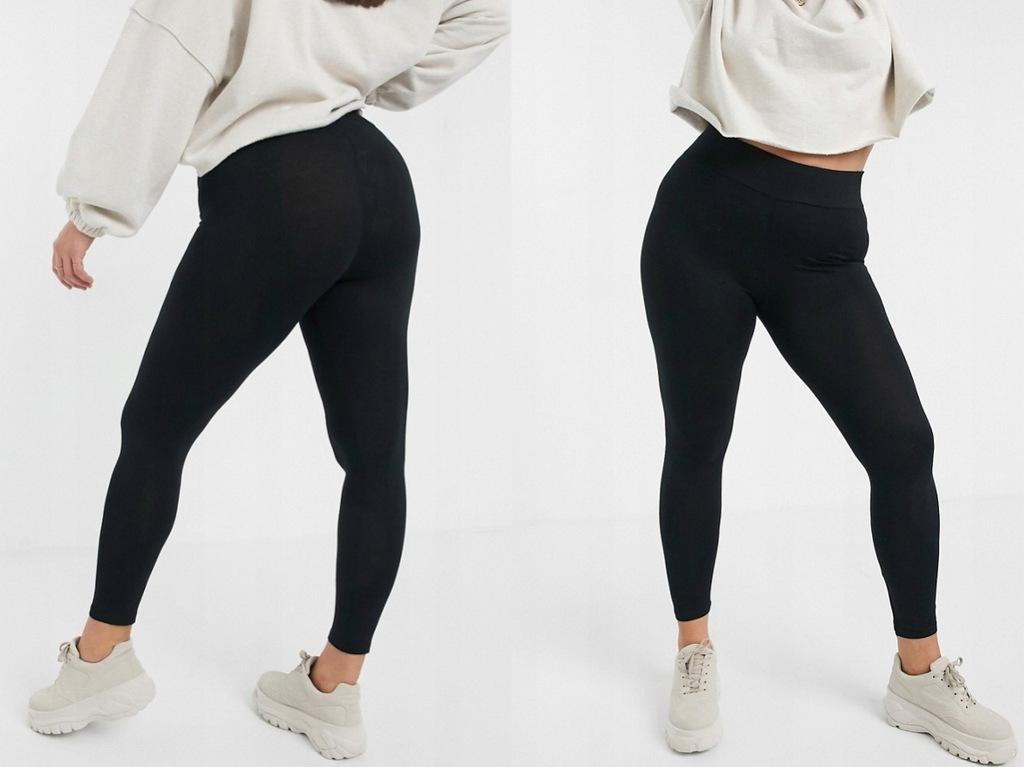 DESIGN czarne legginsy elastyczne klasyczne 52