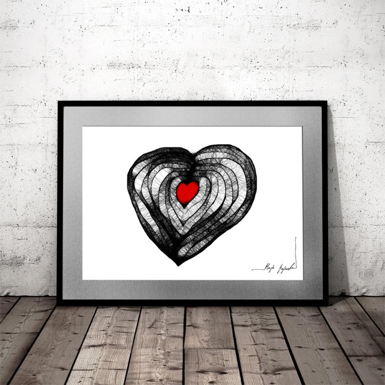 Grafika serce - Maja Gajewska