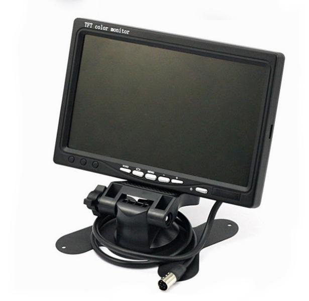Monitor samochodowy 7 cali TFT 12/24V -2 kamery AV
