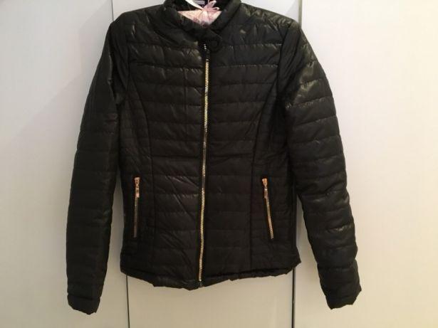 kurtka pikowana zlote zamki czarna 36 S