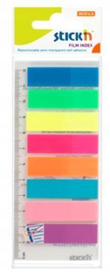Zakładki indeks.samoprz.mix 8 kol.neon klas.z lin.