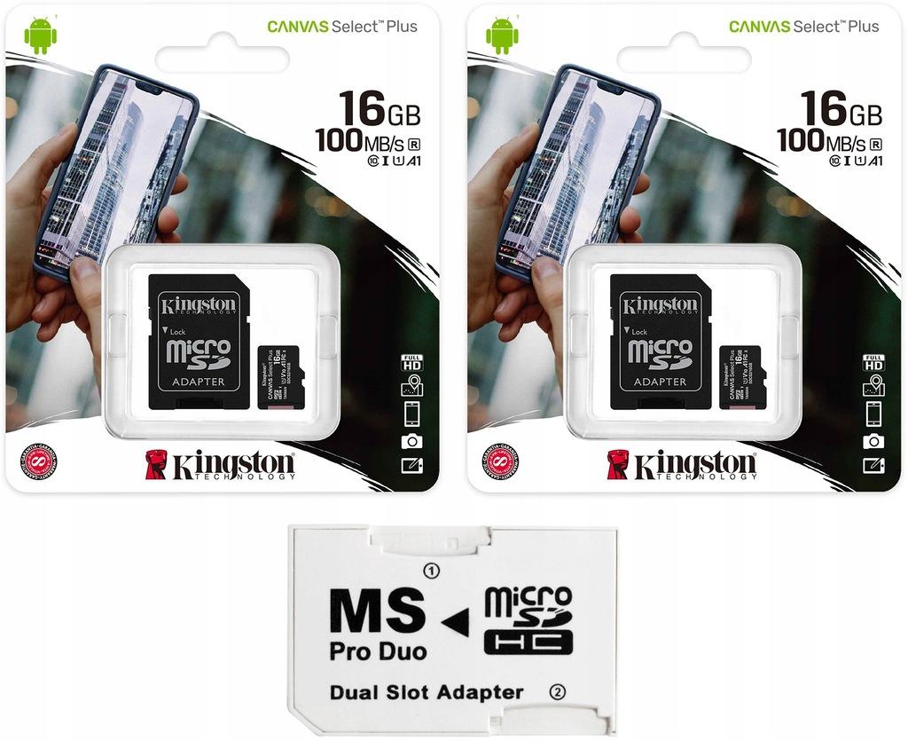 MS PRO DUO ADAPTER +KINGSTON 32GB CLASS10 SONY PSP