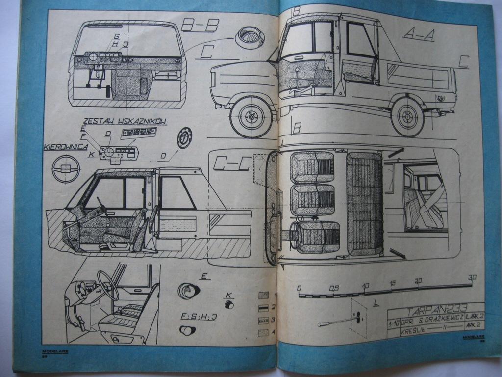 MODELARZ TARPAN 233 Plan rok 1975