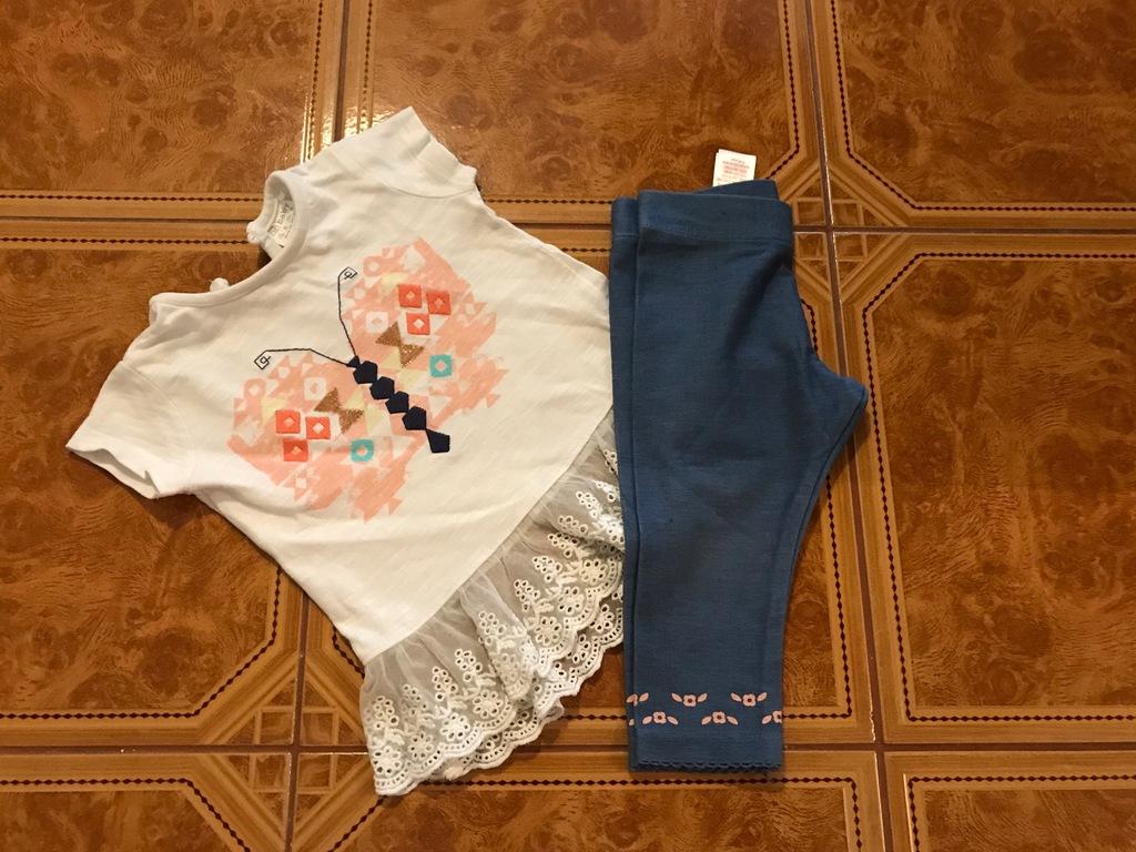 F&F 68cm bluzka leggi tiul tutu jeans