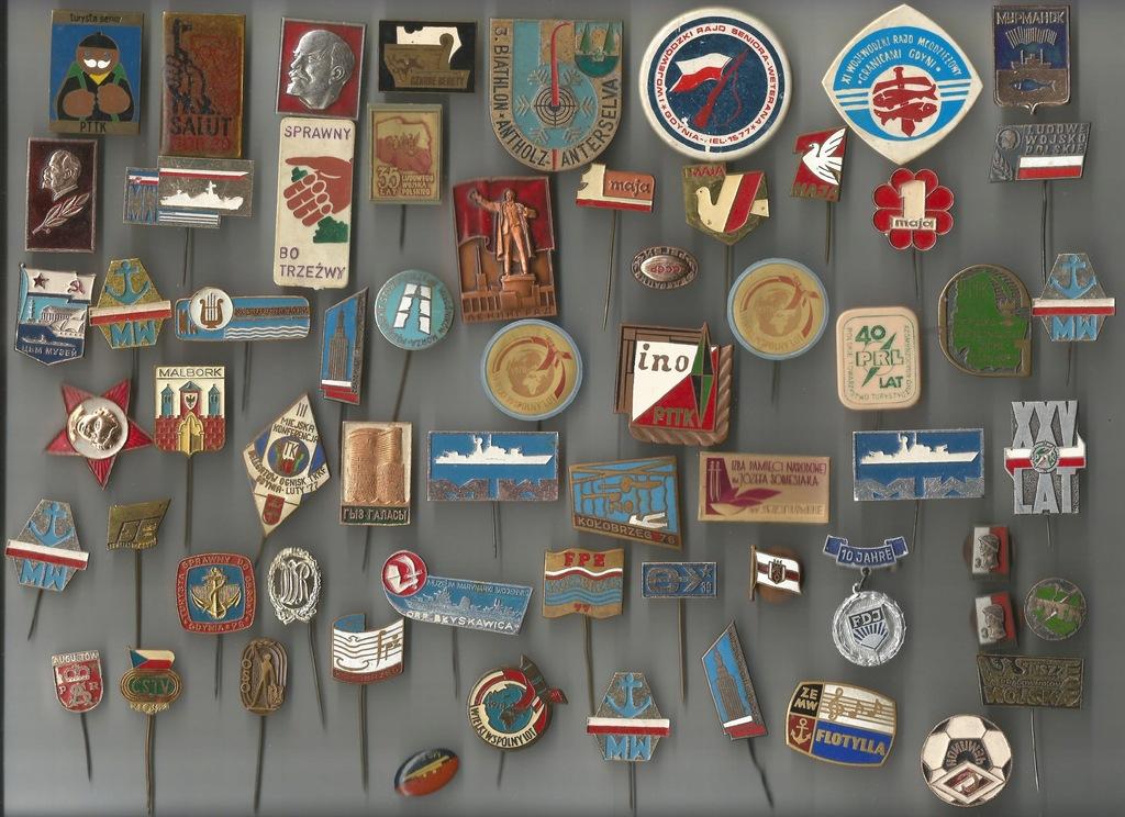 Odznaki i wpinki - PTTK, 1 maja, wojskowe i inne