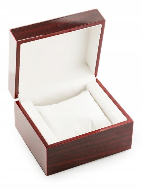 Prezentowe pudełko na zegarek - drewniane mniejsze