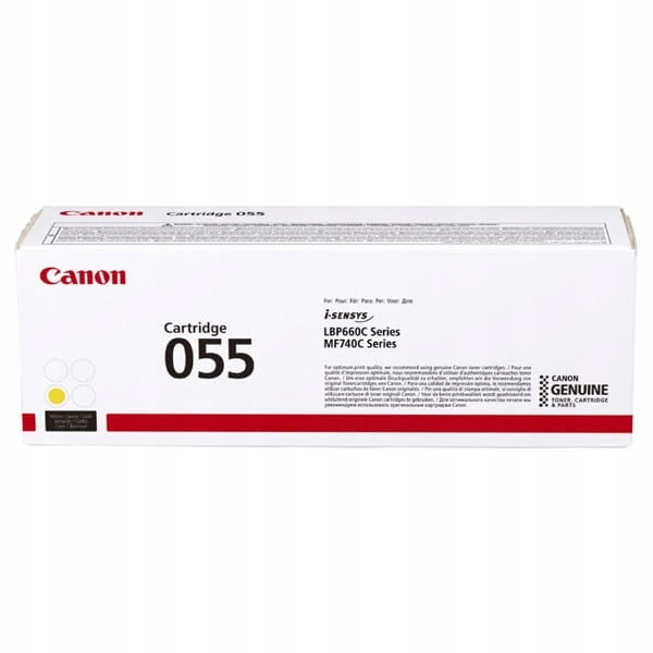 Canon oryginalny toner 055Y, yellow, 2100s, 3013C0