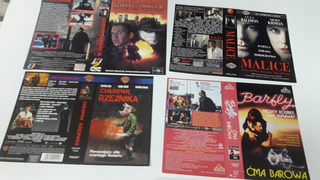 A-0797 pakiet 8 okładek kaset vhs