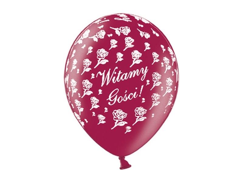 Balon plakat Witamy Gości 10sztuk ślub wesele SB