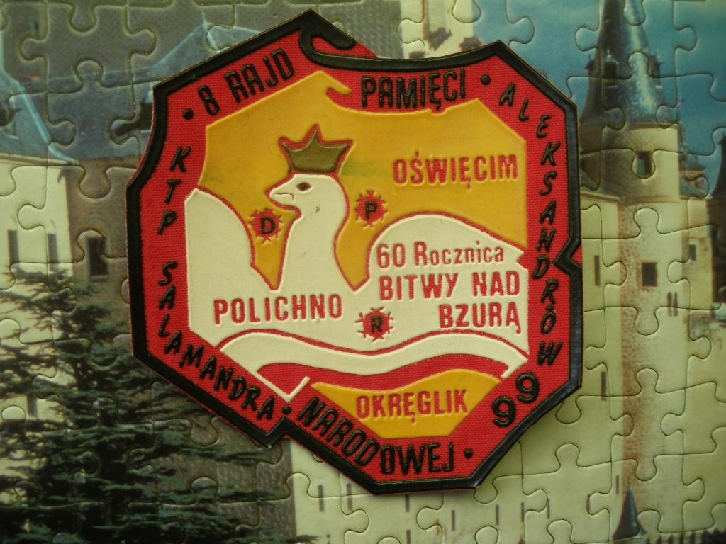 1999 Aleksandrów 8 Rajd Pamięci Narodowej Naszywka
