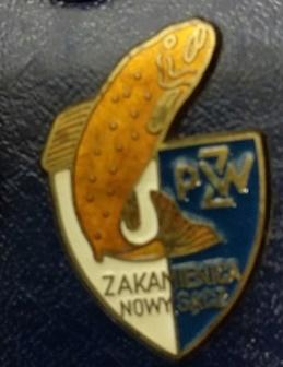 Odznaka wędkarska PZW Zakamienica Nowy Sącz