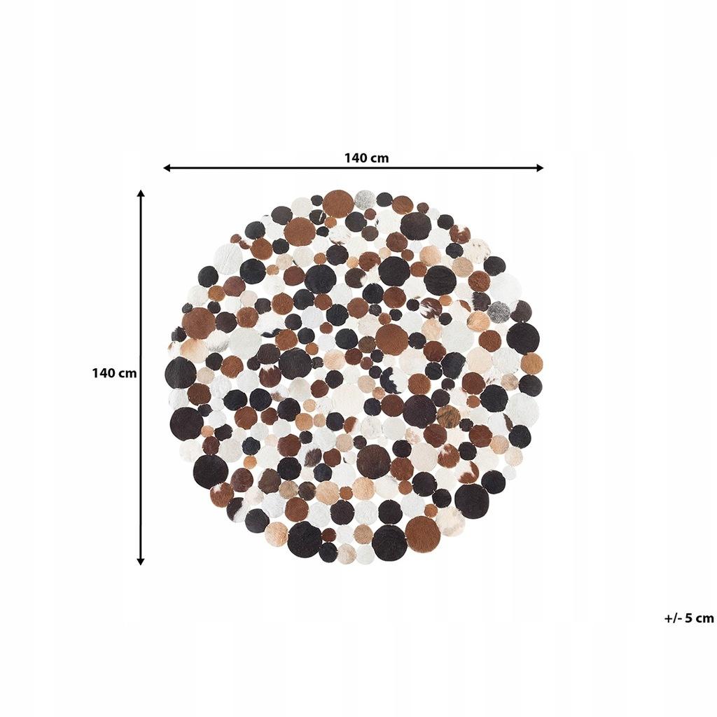 Dywan skórzany brązowy ø 140 cm SORGUN