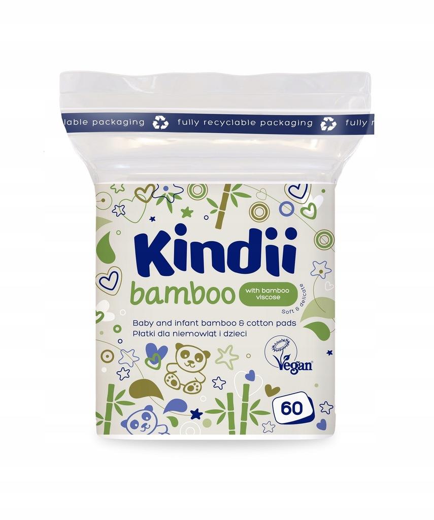 Płatki kosmetyczne dla niemowląt Kindii bambusowe