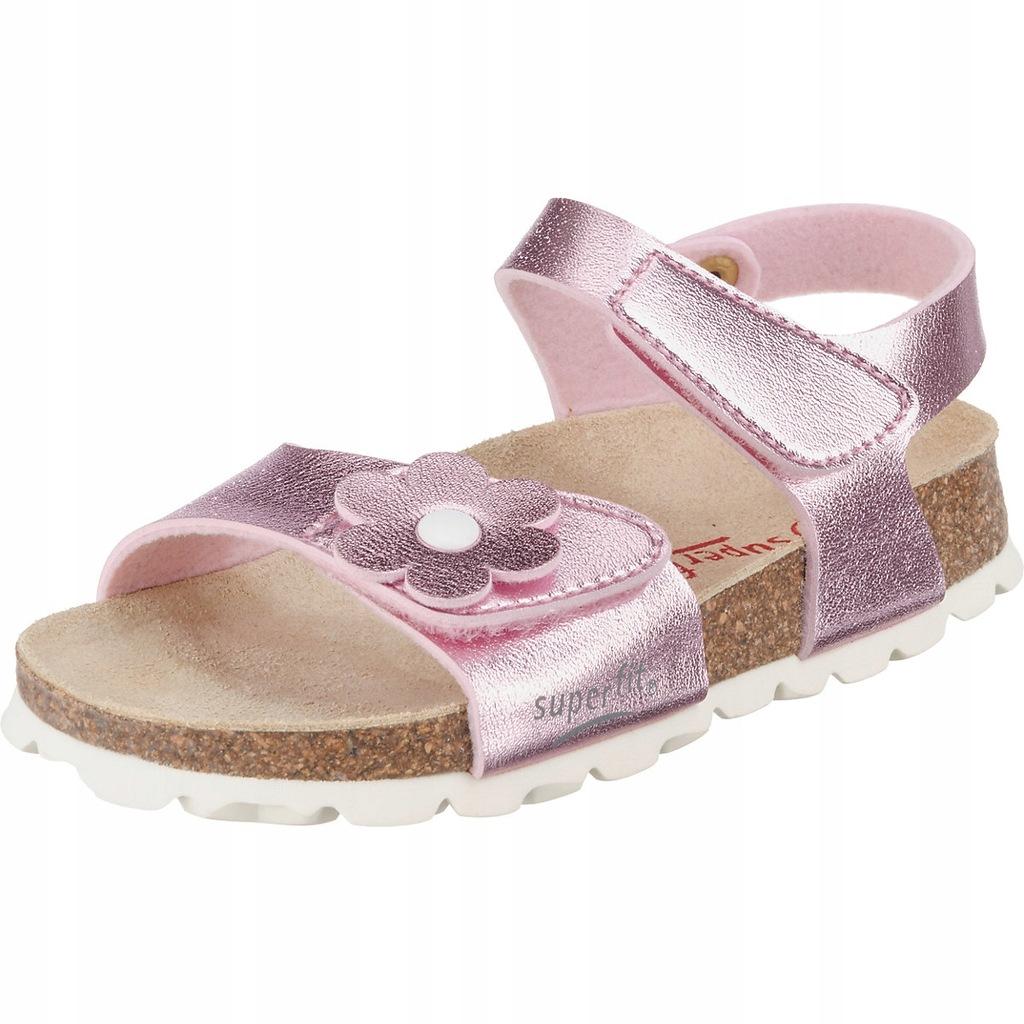 Buty SUPERFIT Sandałki Sandały Różowe 27